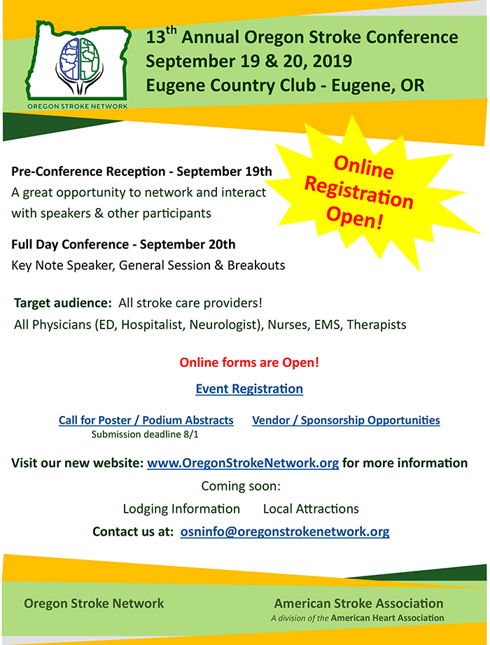 2019 Oregon Stroke Conference